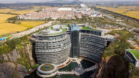 Shanghai 'earthscraper': World's 1st underground hotel opens in China inside abandoned quarry