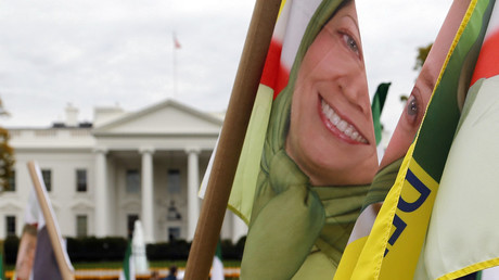 Mujahedin-e Khalq (MEK) supporters rally in front of the White House. ©Reuters / Jonathan Ernst