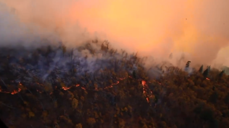 California is burning: Black Hawk aerial footage reveals charred landscape (VIDEO)