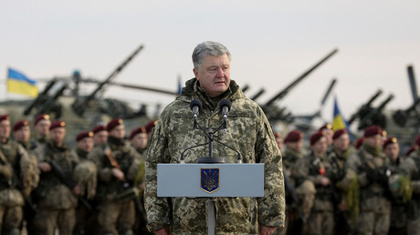 Ukraine parliament backs Poroshenko's 30-day martial law in Russia border areas after Kerch standoff