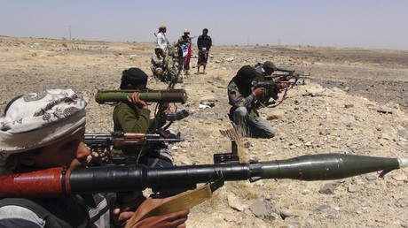 FILE PHOTO. Militant fighters in Yemen's southern Lahej province. ©Reuters / stringer