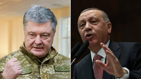 Turkey's Erdogan calls for 'sea of peace' after Kerch standoff while Kiev beats the drums of war
