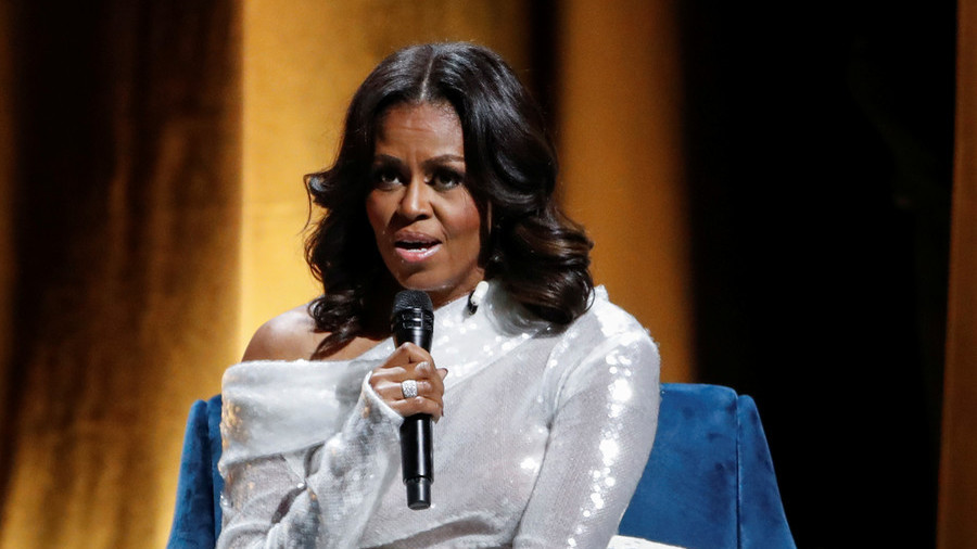 People are losing their minds because Michelle Obama said 'sh
