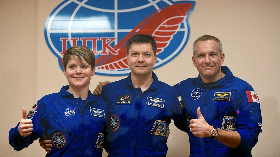 3 astronauts enter International Space Station