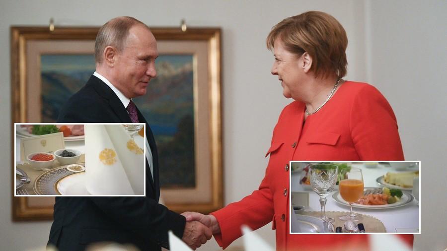 Putin explains Russian stance on Kerch Strait crisis to Merkel over caviar breakfast at G20 (VIDEO)