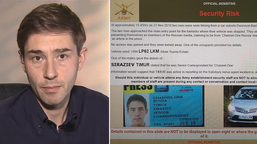 'We never sought to enter UK base, guards talked to us' – Russian reporter accused of 'spying'