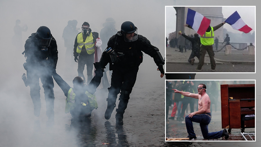 5 striking VIDEOS that reveal the violence & compassion of France's Yellow Vest protests