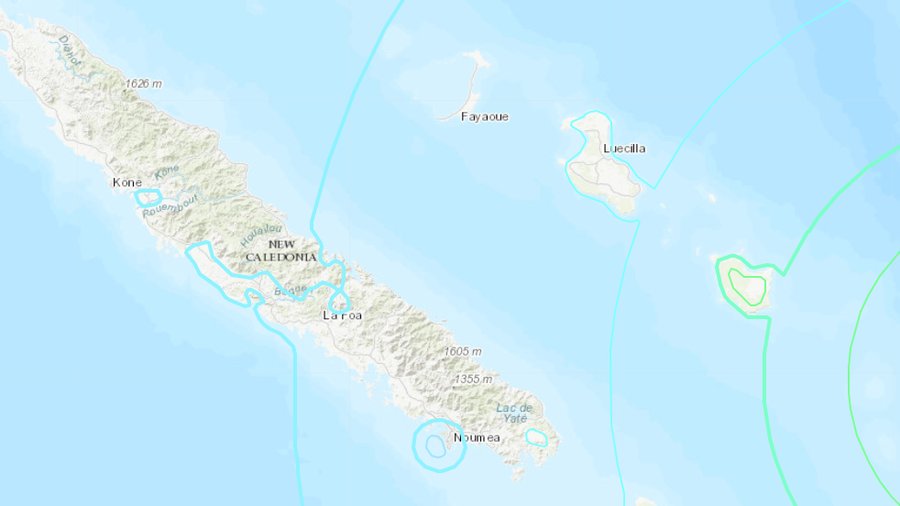 Magnitude 7.5 quake strikes in Pacific near New Caledonia