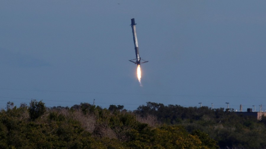 SpaceX's Falcon rocket ditches in water after sending cargo to ISS