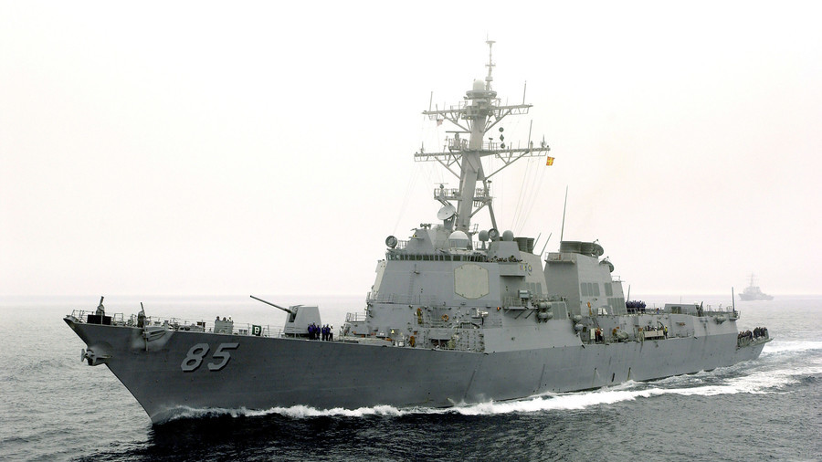 USS McCampbell, U.S. Navy destroyer, challenges Russian Federation in Sea of Japan