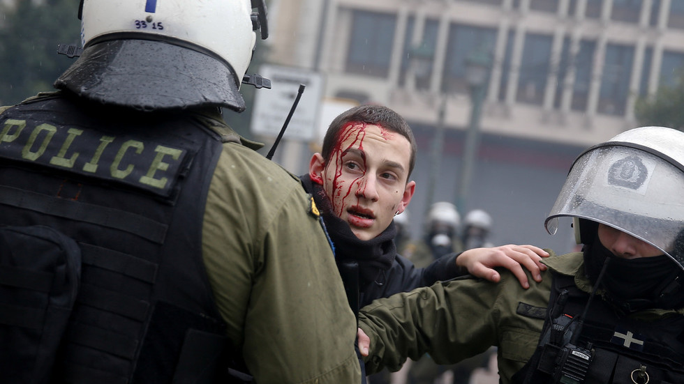 More than 100 people detained during riots in Greece