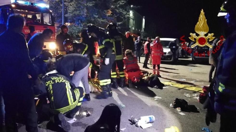 6 dead, dozens hurt in club stampede in Italy