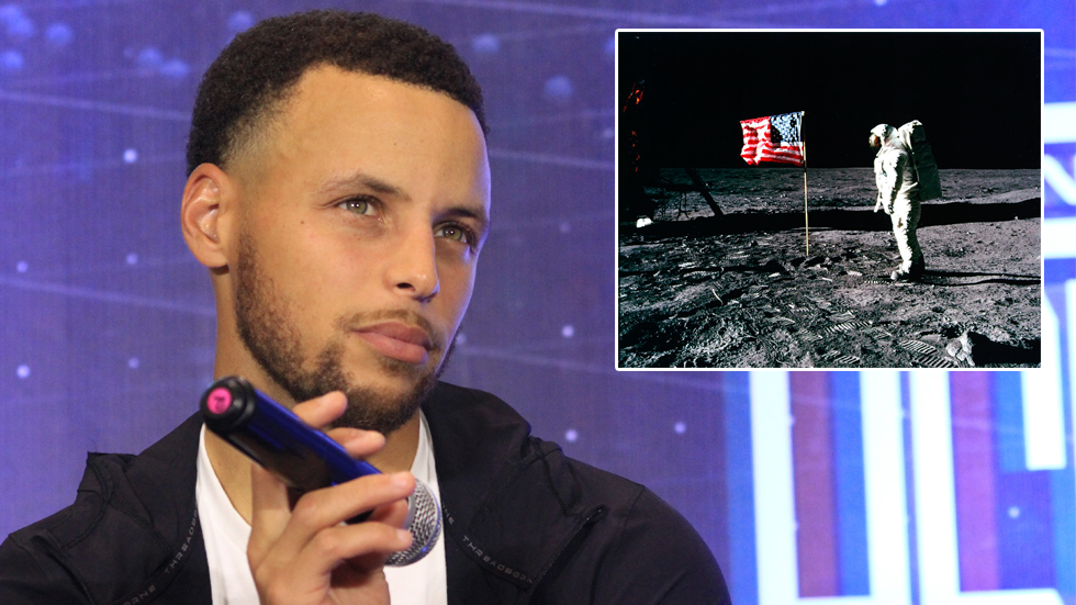 Steph Curry Says He Doesn't Think Man Went to the Moon