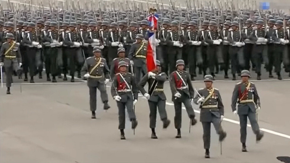Goose-stepping in 2018: Chile's military parade looks a lot like a Nazi one