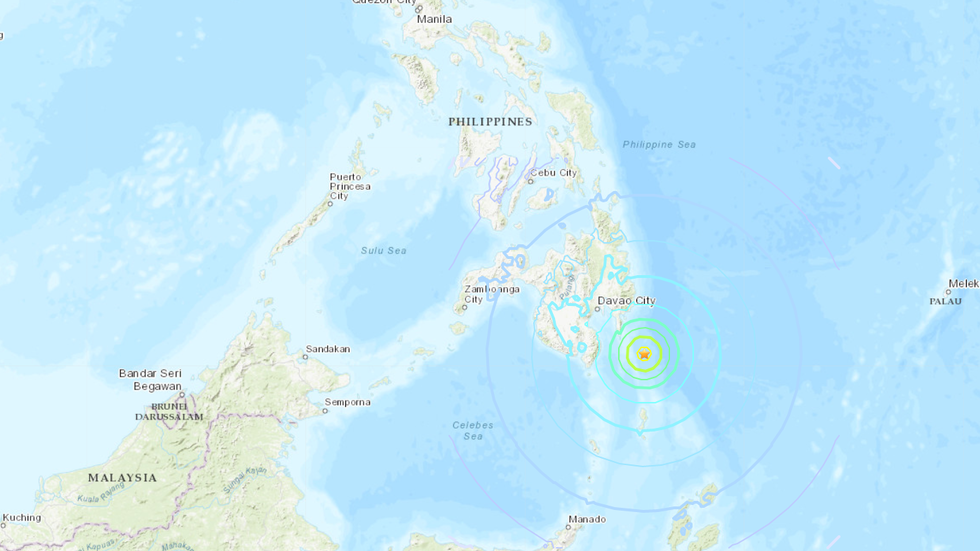 Tsunami warning issued for Philippines & Indonesia after 6.9 earthquake hits Mindanao island