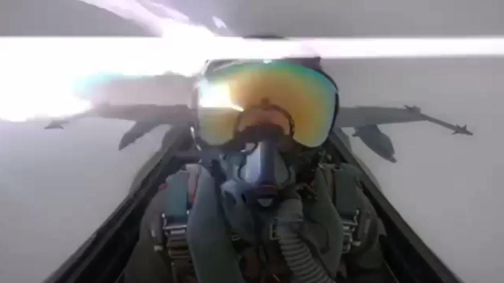 Lightning hits F/A-18 fighter jet, leaves pilot shaken in rare cockpit