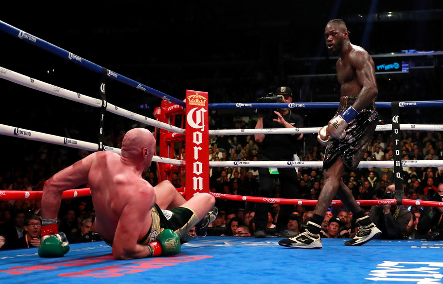 all square  champ wilder and plucky fury scored a draw in