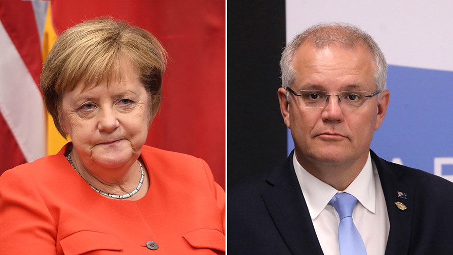 Who are you? Merkel uses cheat sheet to read up on new Australian PM before G20 meeting