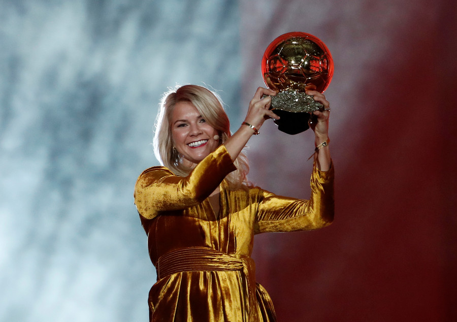 Ballon d'Or victor  Hegerberg plays down sexism row over 'twerk' request
