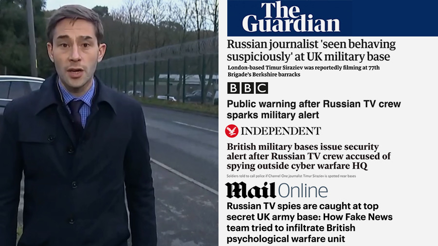We never sought to enter UK base, guards talked to us