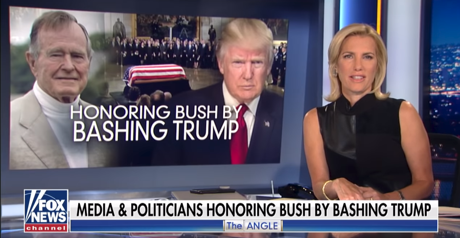 Fox News' host takes aim at MSM using Bush death to bash Trump