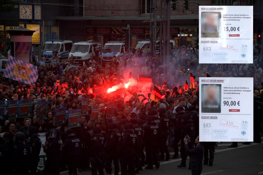 Headhunt for right-wingers? Police to look into activists paying to dox 'idiot' Chemnitz protesters