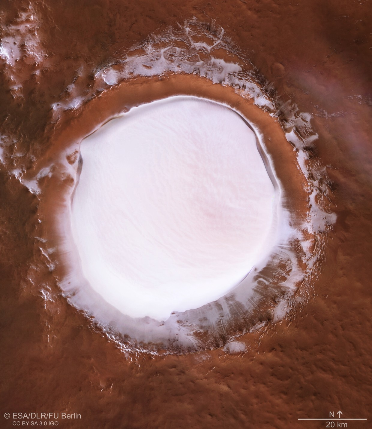 Mile-deep ice crater, quakes discovered on Mars