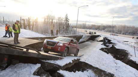 Trump declares Alaska state of emergency after 7.0 quake damages roads & infrastructure (VIDEOS)