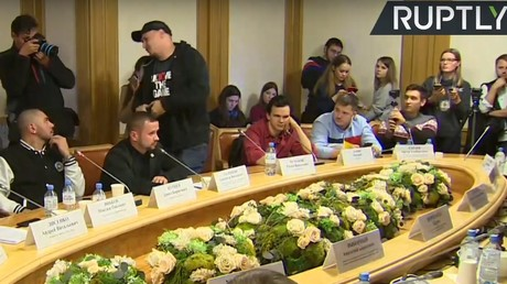 5c096193dda4c8bc1e8b45ca 'Nothing to discuss here, bro!' Russian rap star walks out of free speech talks with politicians
