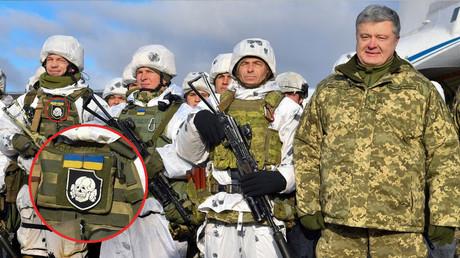 Familiar symbols? Ukraine's president poses with 'elite' paratrooper sporting…SS insignia (PHOTOS)