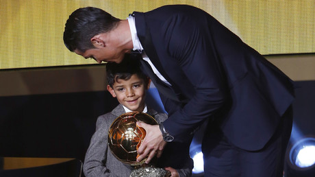 'Mini Cris' - Ronaldo Jr shows he's a chip off the old block with 1st football silverware