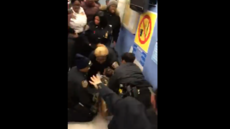 DISTURBING VIDEO shows group of NYPD officers ripping 1yo infant from mother's arms