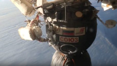 Russian cosmonauts perform space surgery to take samples from mysterious Soyuz hole (VIDEO)
