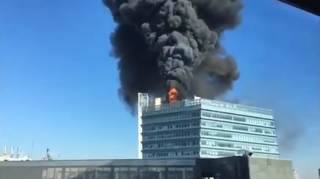 Giant blaze rips through Google's office in 'China's Silicon Valley' (VIDEO)