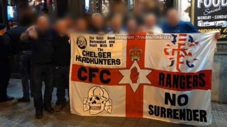 Chelsea fans in fresh racism storm over 'Nazi death skull' flag