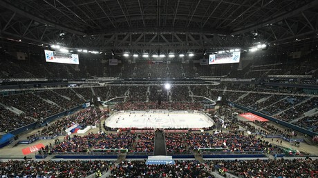 Russia-Finland ice hockey game in St. Petersburg sets national attendance record with 71,000 fans