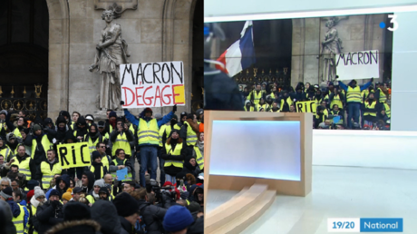 'Macron… WHAT?' French TV channel 'censors' photo of Yellow Vest protester's placard (PHOTOS)