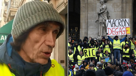 Media 'in cahoots' with French govt: Censored Yellow Vest protester speaks to RT