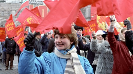 A demonstration in Red Square in 1986. © Sputnik