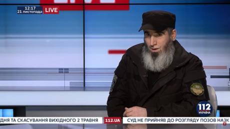 Ukrainian Chechen volunteer battalion leader Muslim Cheberloevsky interview by Ukrainian TV in November 2017
