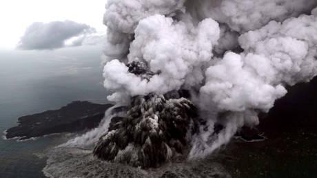 Indonesia raises volcano alert, reroutes all flights around erupting Anak Krakatau