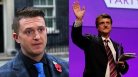 (L) Tommy Robinson © Reuters / Simon Dawson (R) UKIP leader Gerard Batten © Reuters / Darren Staples