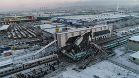 DRONE VIDEO reveals deadly aftermath of Turkish train crash