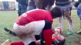 'Brutal aggression': Argentine footballer arrested after sickening referee assault (VIDEO)