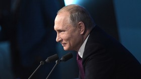 Rule the world? Not us. Get married? Someday. Putin's quips at annual Q&A