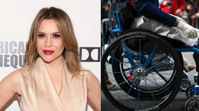Alyssa Milano mocks amputee veteran's massive border wall crowdfunding, gets Twitter-flogged