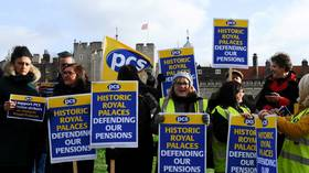 Iconic London Tower guards don yellow vests for their first strike in 55 YEARS
