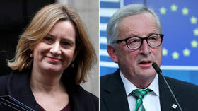 Juncker lambasted by Amber Rudd for his 'grotesque' treatment of women