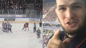 'Hope they won't take it to the stands!': Khabib breaks down ice hockey fight (VIDEO)