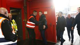 Roo are ya? Manchester United legend Wayne Rooney searched by security on Old Trafford return